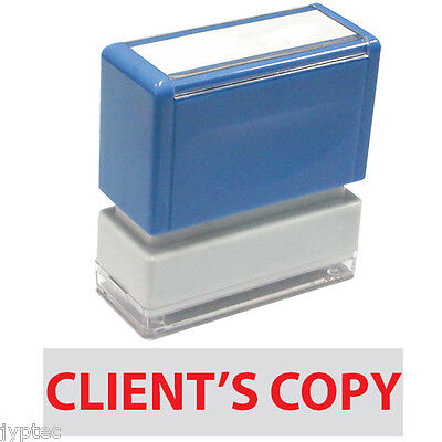 Clients Copy - Jyp Pa1040 Pre-inked Rubber Stamp Red Ink