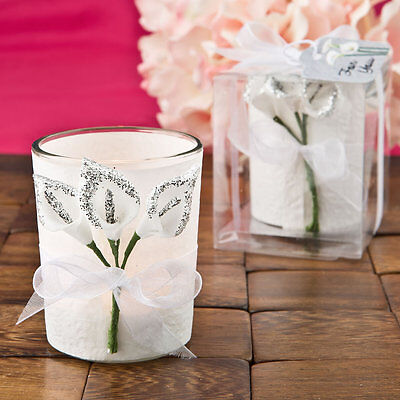30 Silver Calla Lily Votive Candles Bridal Shower Wedding Favors Bridal Calla Lily Favors