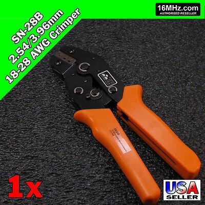 Sn-28b Crimper Crimp Plier Tool 2.54-3.96mm 18-28 Awg Dupont 3 Size Jst Molex Us