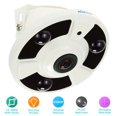KKmoon HD 2000TVL 1080P 1.7mm Fisheye 360° Panorama Sicherheit CCTV Kamera X2Y0 Cctv-kamera