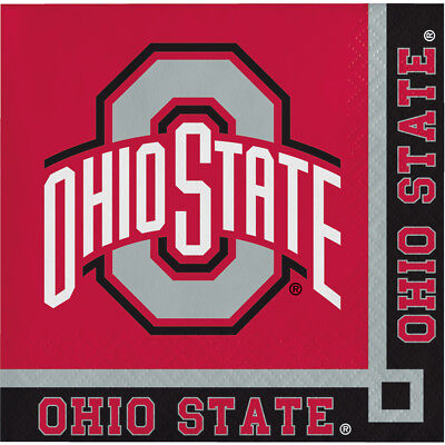 40ct Ohio State University Buckeyes  2-ply Beverage Napkins Party college party - Ohio State Beverage