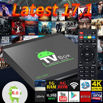 2017 4K PRO MS8-MINI Quad Core Smart Android 6.0 TV BOX 17.1 WIFI Media Player