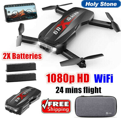 Holy Stone Foldable RC Drone With HD 1080P Camera Battery Wifi FPV Helicopter