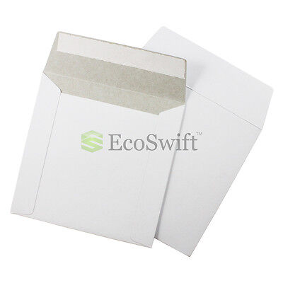 40 - 6 X 6 White Cddvd Photo Ship Flats Cardboard Envelope Mailer Mailers 6x6