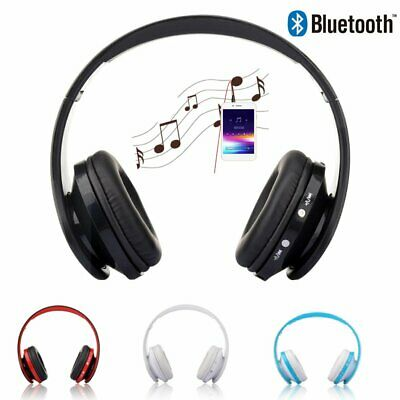 4 Color Foldable Wireless Bluetooth Headset Mic For Cellphone PC Laptop+Cable
