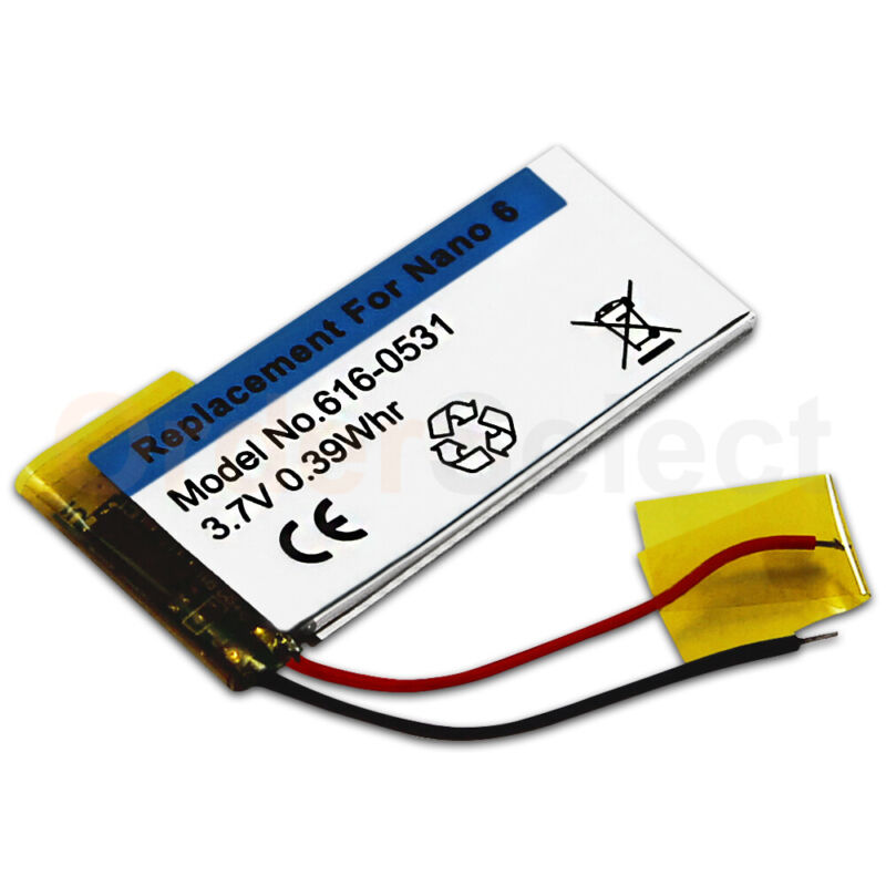 NEW Battery Replacement 3.7V for Apple iPod Nano 6 6th Generation Gen 616-0531