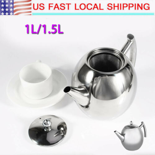 1/1.5L Stainless Steel Tea Kettle Teapot for Stove Top Fast