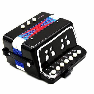 7-Key 2 Bass Mini Small Accordion Kids Musical Instrument Rhythm Band Toy HOT