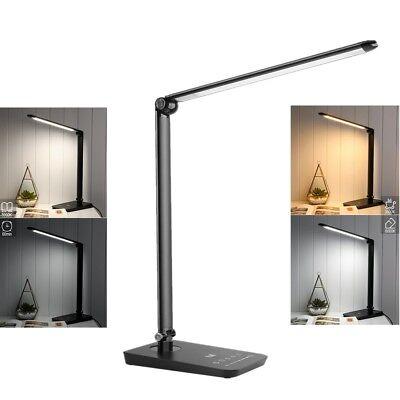 Dimmbar 8W LED Schreibtischlampe Büroleuchte Tischleuchte Leselicht Buchlampe
