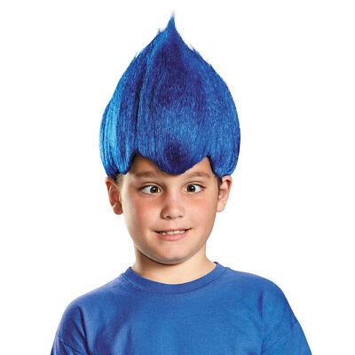 Child Dark Blue Wacky Troll Costume Wig