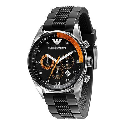 ** NEW ** Emporio Armani® watch AR5878 Black/Orange men`s CHRONOGRAPH