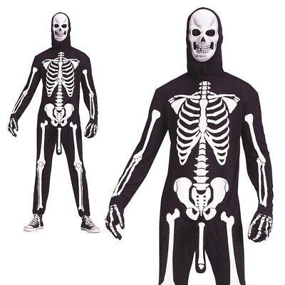 Erwachsene Skele-Boner Kostüm Skelett Halloween Neuheit Lustige Kostüm Outfit