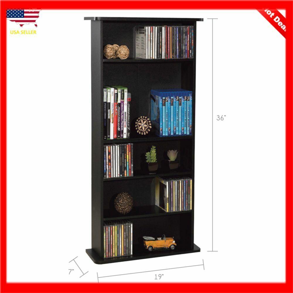 adjustable 5 shelf wood bookcase storage shelving