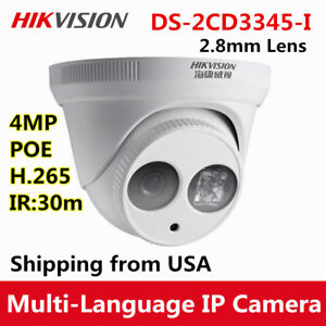Hikvision DS-2CD3345-I 2.8MM 4MP POE H.265 EXIR Turret Dome IP Camera IR outdoor
