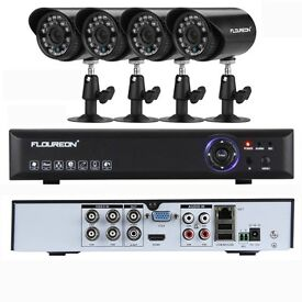 MASSIVE SALE FOR 7 DAY's CCTV SYSTEM WITH 4 CAMERA'S AND HARD DRIVE A COMPLEAT SYSTEM ONLY £99.99.
