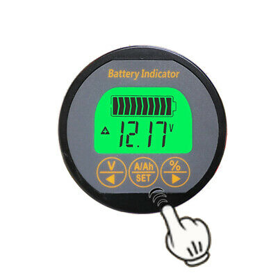 Battery Monitor Dc 0-80v0-350a Soc Ah Volt Amp Capacity Tester Voltmeter Ammeter