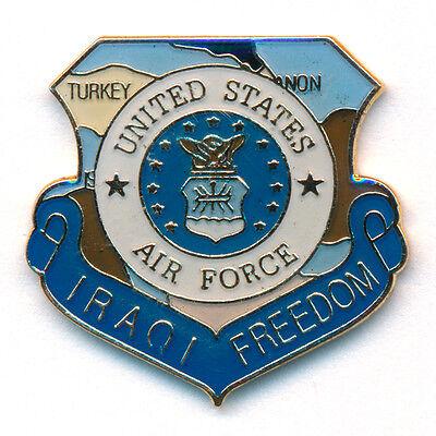 Iraqi Freedom Irak U.S. Air Force United States USA Badge Pin Anstecker 0775