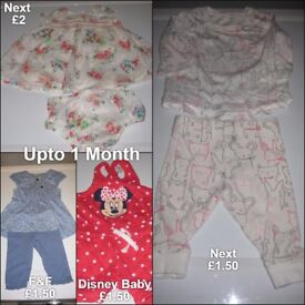 Baby Girls Upto 1 Months Clothes