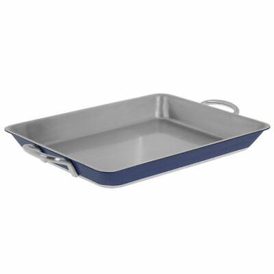 Stainless Steel Baking Pan, 3-Ply Rectangular Blue - 14 1/4 L x 11 2/5 W x 1 -