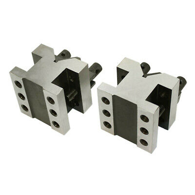 2-38 X 2-38 X 2 V Block Clamp Set Multi-use Gauge Gage Machinist Tool