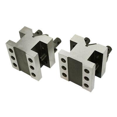 2-38 X 2-38 X 2 V Block Clamp Set Multi-use Gauge Gage Machinist Tool