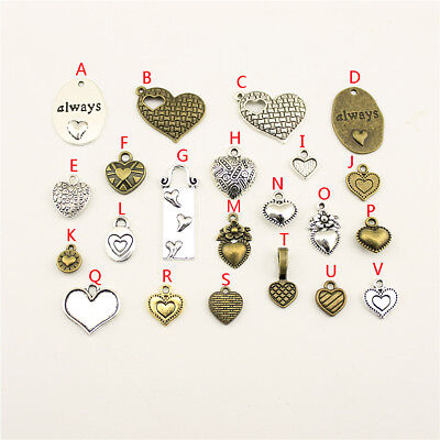 10pcs Small Heart Charms For DIY Jewelry Findings Making Handmade Accessories - Small Charms