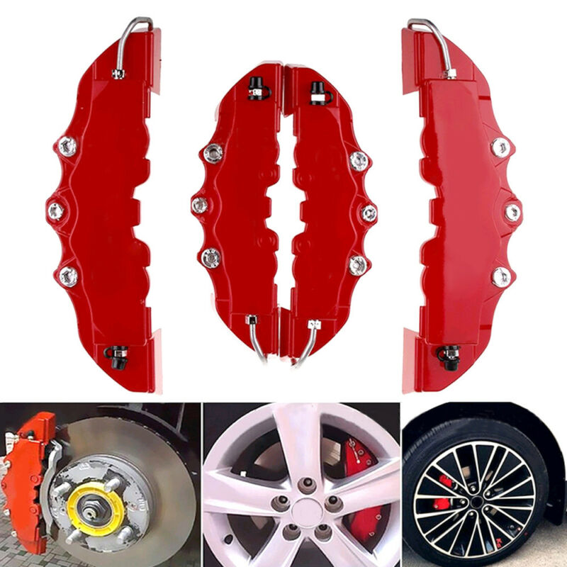Car Parts - 3D Car Disc Brake Caliper Covers Parts Front & Rear For 18.3-23.6 inch wheels