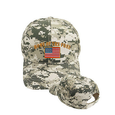 HOME OF THE Casual Army Camo Military Style Adjustable Hat Cap