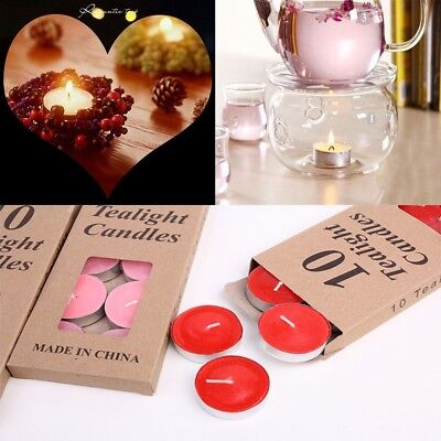 10Pcs Romantic Tealight Scented Candles Birthday Party Candles Light -