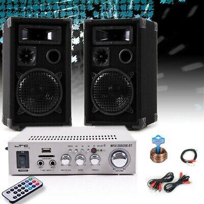 Anlage Boxen Verstärker Bluetooth USB SD MP3 Big Light (Boxen Party)