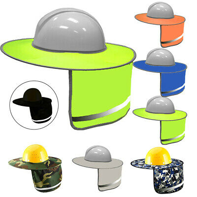 Construction-safety Hard Hat Neck Shield Helmet Sun Shade Reflective Cover