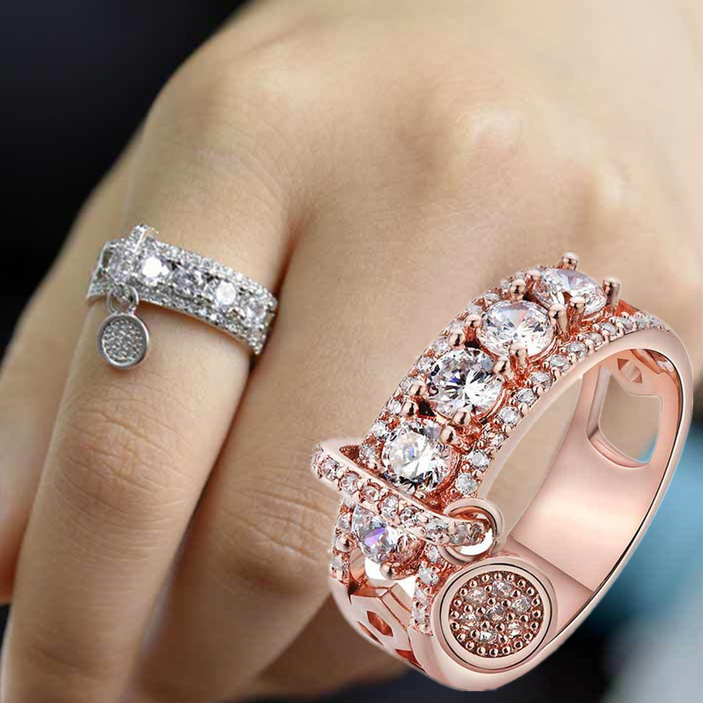 Jewellery - Gorgeous Women 925 Silver Wedding Rings Jewelry White Sapphire Ring Size 5-11
