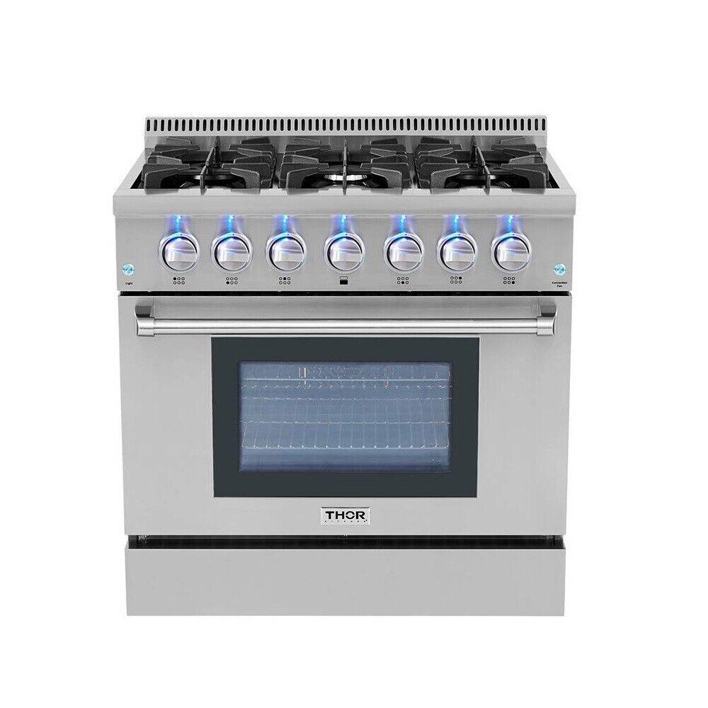 """36"""" Gas Range 6 Burner Pro-Style Thor Kitchen"""