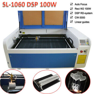 DSP1060 100W Co2 USB Laser Cutting Laser Machine Auto-Focus DSP Engraver Chiller, used for sale  Shipping to Nigeria