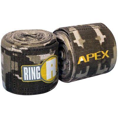 "New Ringside Apex Kick Boxing MMA Handwraps Hand Wrap Wraps 180"" - Green Camo"