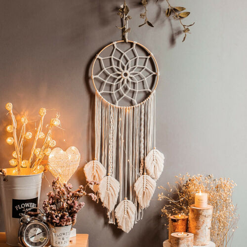 Macrame Dream Catcher Wall Hanging Woven Boho Tassels Home Decoration Ornament