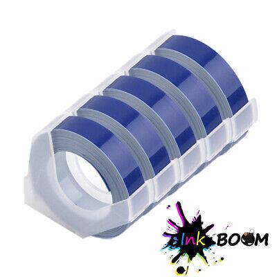 5 Blue Rolls Label Tape For Dymo 3d 38 Embossing Label Maker Tape 9mm X 3m