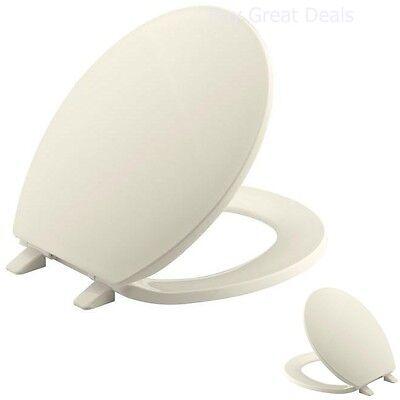 bathroom almond round molded toilet seat quick