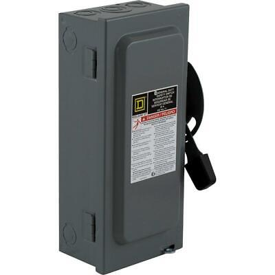 Square D 60 Amp 240-volt 2-pole Fused Indoor General Duty Safety Switch D222ncp