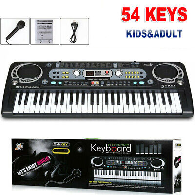 Musical Keyboard Piano 54keys Electronic Electric Digital Beginner Adult Gift TR