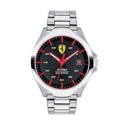 Scuderia Ferrari Men's Aero Water Resistant Stainless Steel Bracelet Watch