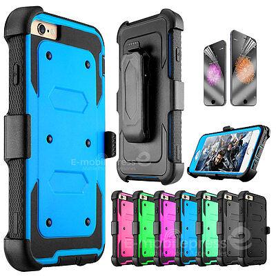 Belt Clip Holster Case (Belt Clip Holster Shockproof Rugged Case Cover for Apple iPhone 5s SE 6s 7 Plus )