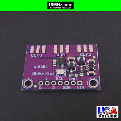 Si5351a Clock Generator Breakout Board 8khz160mhz Arduino 3.3v 5v G21