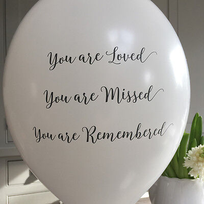 Angel & Dove 25 White 'You Are Loved' Biodegradable Latex Funeral Balloons - Are Balloons Latex