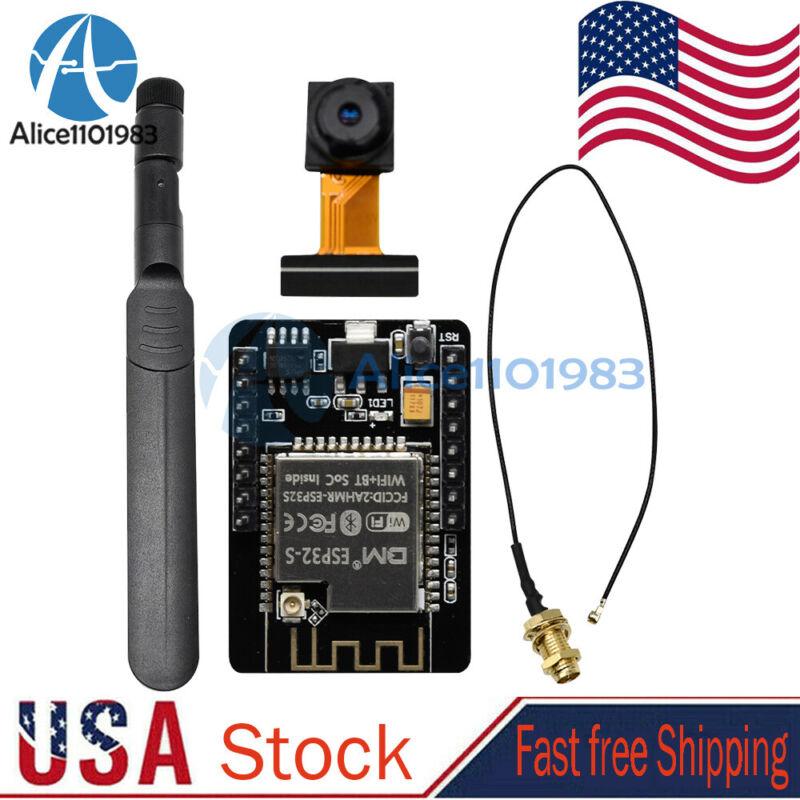 ESP32-CAM WIFI Bluetooth Development Board + Camera Module + Antenna Set US