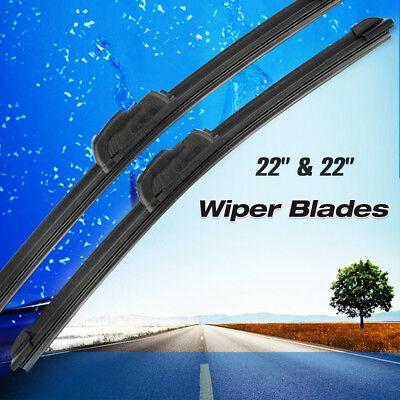22  22 Windshield Wiper Blades Bracketless OEM Quality ALL SEASON PREMIUM USA