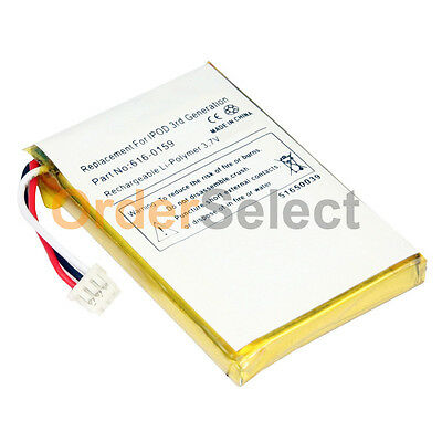 NEW Replacement Battery for Apple iPod 3rd Generation 3G 10GB/15GB/20GB 300+SOLD 3rd Generation Replacement Battery