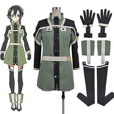Sword Art Online Shino Asada Cosplay Uniform Outfit Halloween Costumes for women