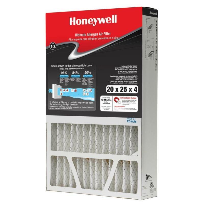 "FPR 10 Allergen Air Filter Honeywell  Cleaner MERV 12 20"" x"