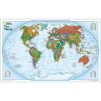 -  World Explorer Political Map - Laminated - 20